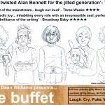 Nathan Dean Williams presents...'the buffet' HALF HOUR EDINBURGH PREVIEW @MY MUM'S HOUSE, LOWDOWN AT THE ALBANY, GREAT PORTLAND  ST, 16TH JUNE, 7.30PM. ALSO PREVIEWING MCNEIL & PAMPHILON AND WENDY WASON. £5